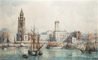 liverpool docks by william gawin herdman