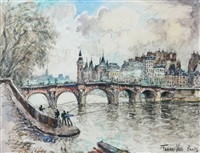 le pont neuf, paris by frank-will
