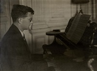 portrait of shostakovich at the piano by anonymous (20)