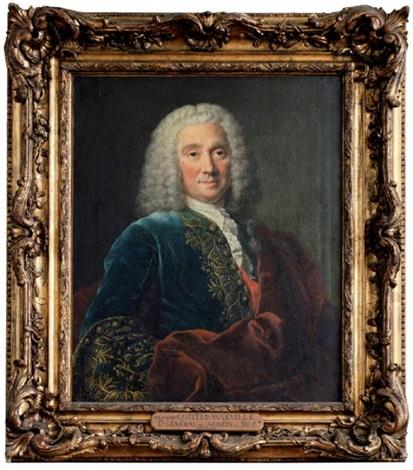 portrait de françois comte danneville lieutenant général des armées du roi by louis tocqué
