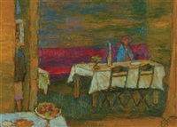 girl at table by edward bishop