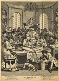 the four stages of cruelty by william hogarth