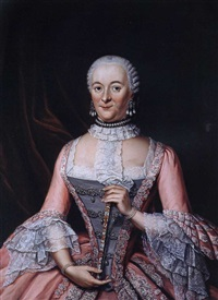 portrait einer dame by tiebout regters