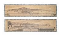 veduta di napoli dalla parte di chiaja (+ prospetto generale della citta di napoli; 2 works) by ignazio sclopis