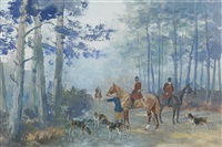 chasse a courre by karl andré jean (baron) reille