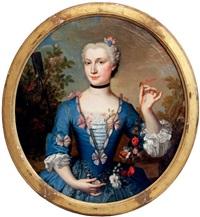 portrait de jeune femme en jardinière by jean-martial fredou
