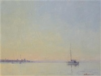 a quiet evening, thames estuary by matthew alexander