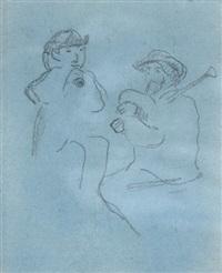deux joueurs de biniou by paul gauguin
