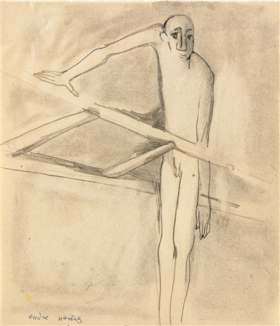 by the ladder self portrait by endre nemes