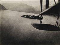 aerial view of lake maggiore by fedele azari