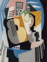 nature morte à la guitare by louis marcoussis
