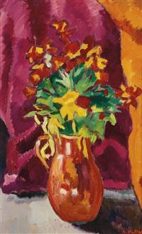 vase de fleurs, giroflées by louis valtat