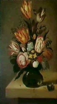 bouquet de fleurs sur un entablement by abraham bosschaert