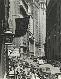 broad street and stock exchange, new york city by andreas feininger