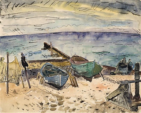 boote am strand vitte by erhard hippold