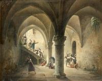 l'attaque du couvent by charles-louis lesaint