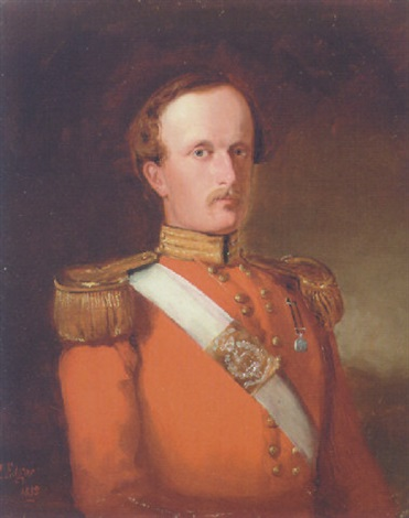 portrait of captain cp catty in uniform by james h edgar