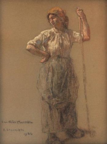faneuse debout by léon augustin lhermitte