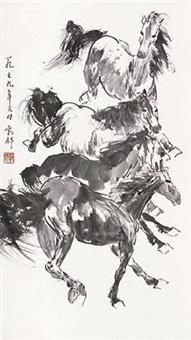 奔马图 by liu boshu