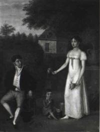 la famille au jardin by jean-jacques hauer
