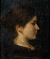 portrait of woman by anna bilinska-bohdanowicz