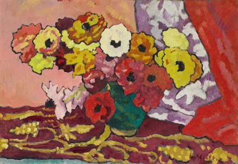 bouquets danémones by louis valtat