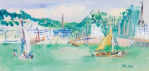 port de honfleur by jean dufy