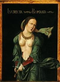 lucrèce by master of saint sang