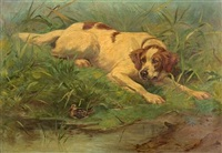 the dog and the woodcock by gaston gélibert