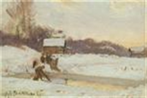 winter scene by john henry twachtman