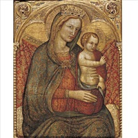 madonna and child (fragment) by cecco di pietro