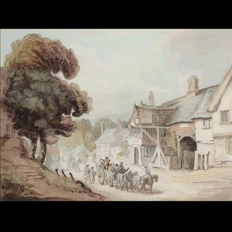 broadway warcester by thomas rowlandson