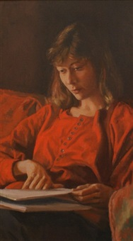 girl studying by brian james dunlop