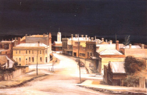 Stawell gold mining town, Victoria by Kenneth William David