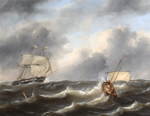 ships in choppy waters by govert van emmerik