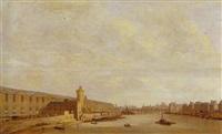 vue de la grande galerie du louvre, du pont-neuf et de la tour de nesles by abraham de verwer