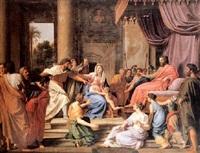moïse enfant foulant aux pieds la couronne de pharaon by nicolas colombel