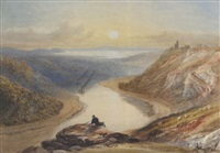 the avon gorge from clifton down, looking towards the severn estuary by samuel jackson