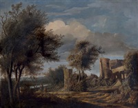 vue des ruines de slot egmond by anthony jansz van der croos