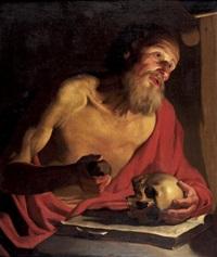 saint jérôme en méditation by gerrit van honthorst