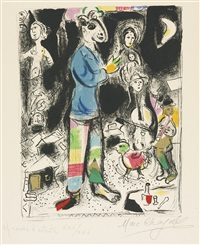 peasant with violin by marc chagall