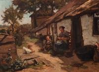 behind the house by johannes evert hendrik akkeringa
