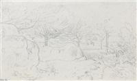 paysage de fontainebleau by théodore rousseau