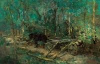 綠林幽道 (green forest) by alfred théodore joseph bastien