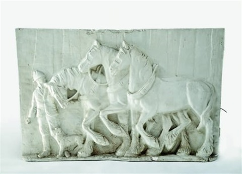 three draught horses by chrystabel aitken