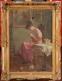 femme à la couture by eugenio oliva rodrigo