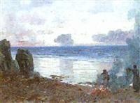 burning kelp, isle of skye by john miller