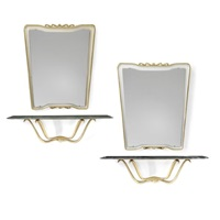 a pair of console tables and mirrors (set of 4) by arredamenti borsani (co.)
