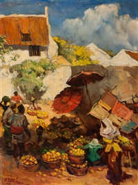 the fruit market by raden basoeki abdullah