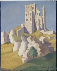 corfe castle by herbert gurschner